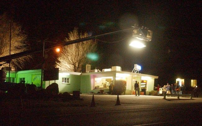 Filming in Victorville