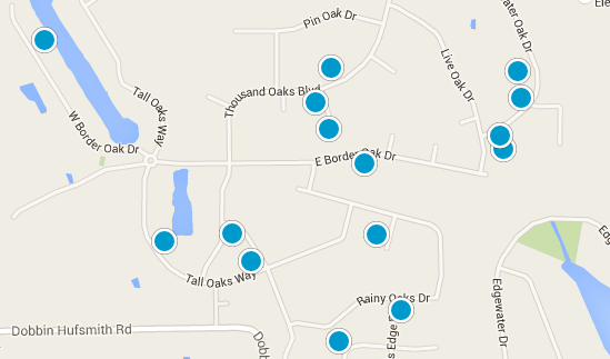Thousand Oaks Homes For Sale In Magnolia TX - Thousand oaks map