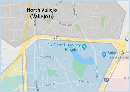 North (Vallejo 6)) Area of Vallejo CA