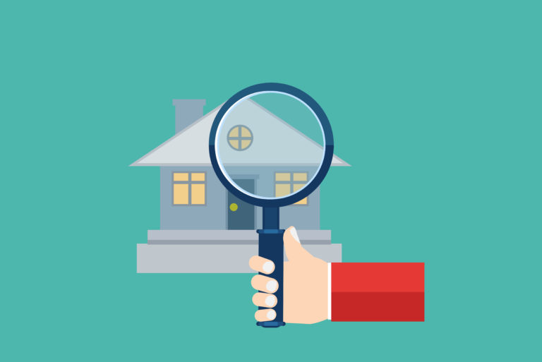 Orlando property manager inspection with magnifying glass