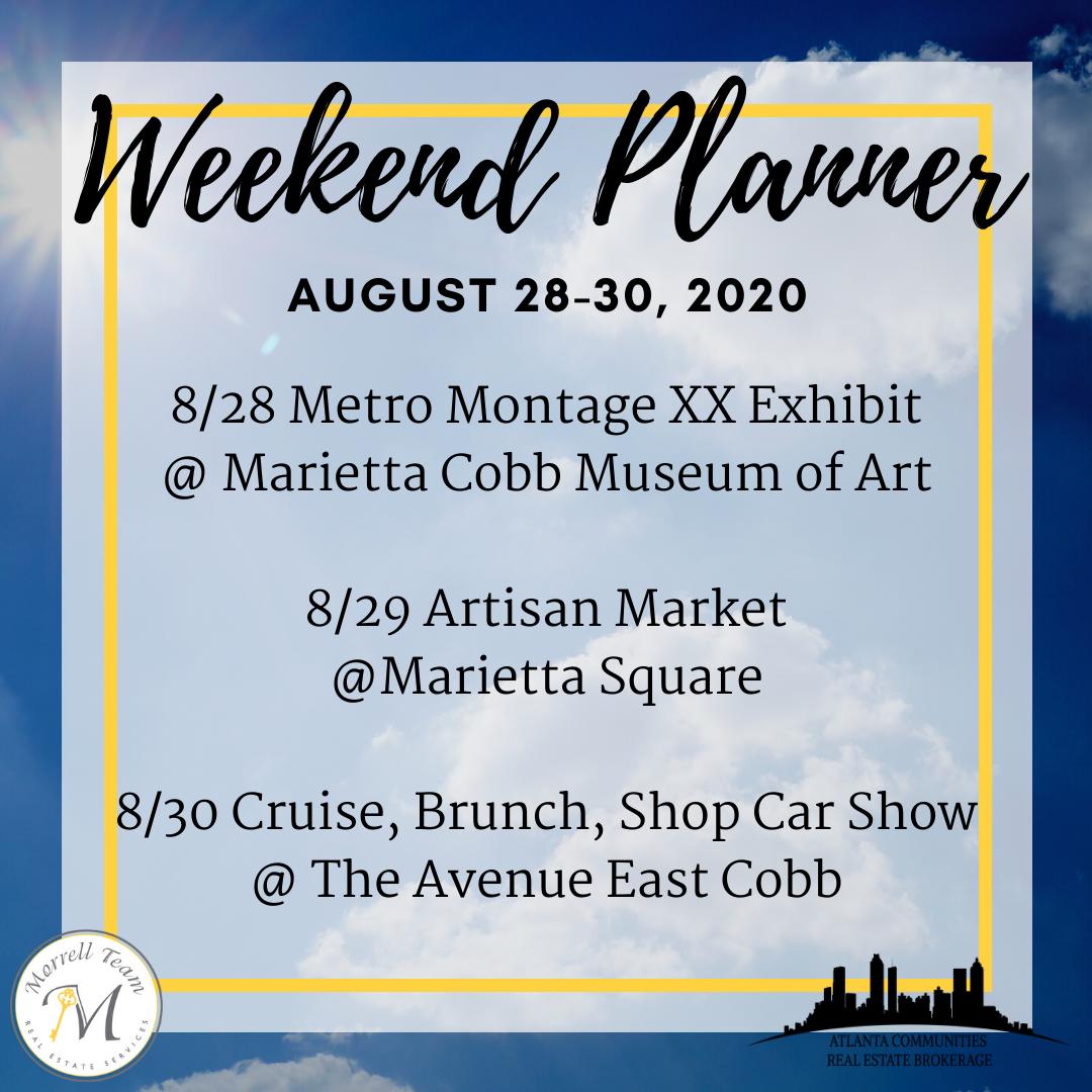 Weekend Planner August 26, 2020
