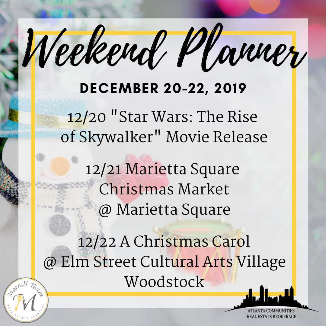 Weekend Planner Dec 18, 2019