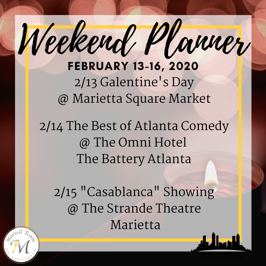 Weekend Planner Feb 12, 2020