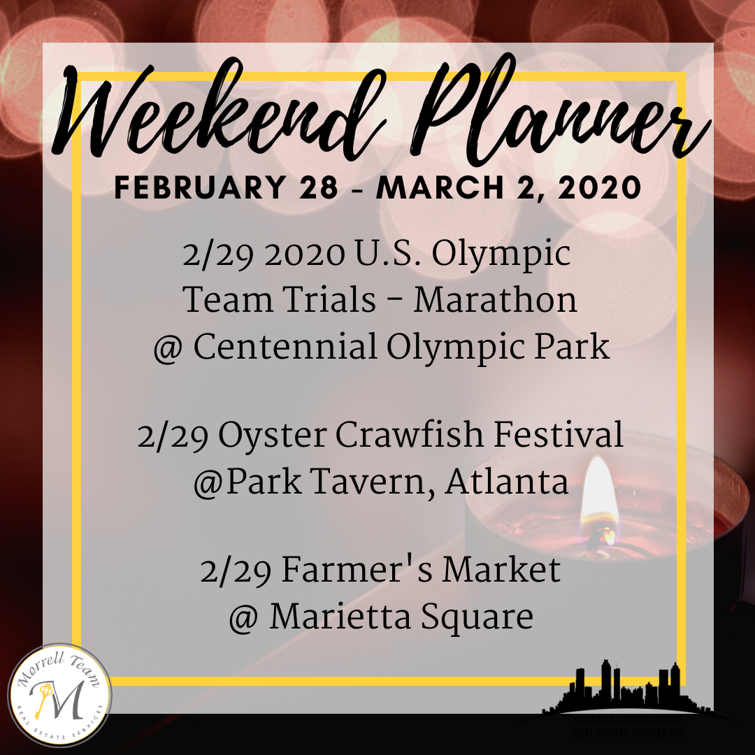 Weekend Planner February 26, 2020
