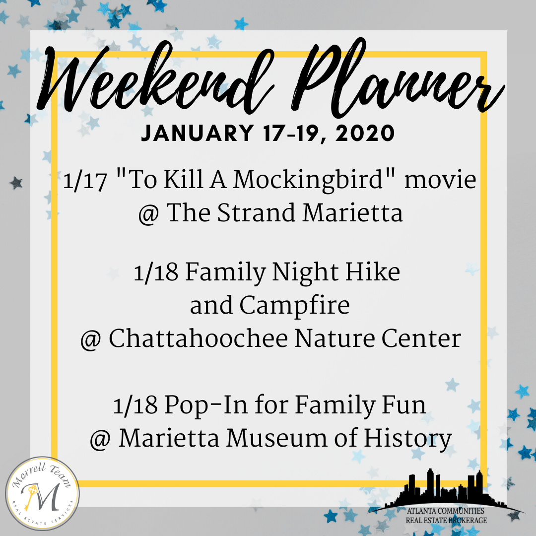 Weekend Planner January 15, 2020