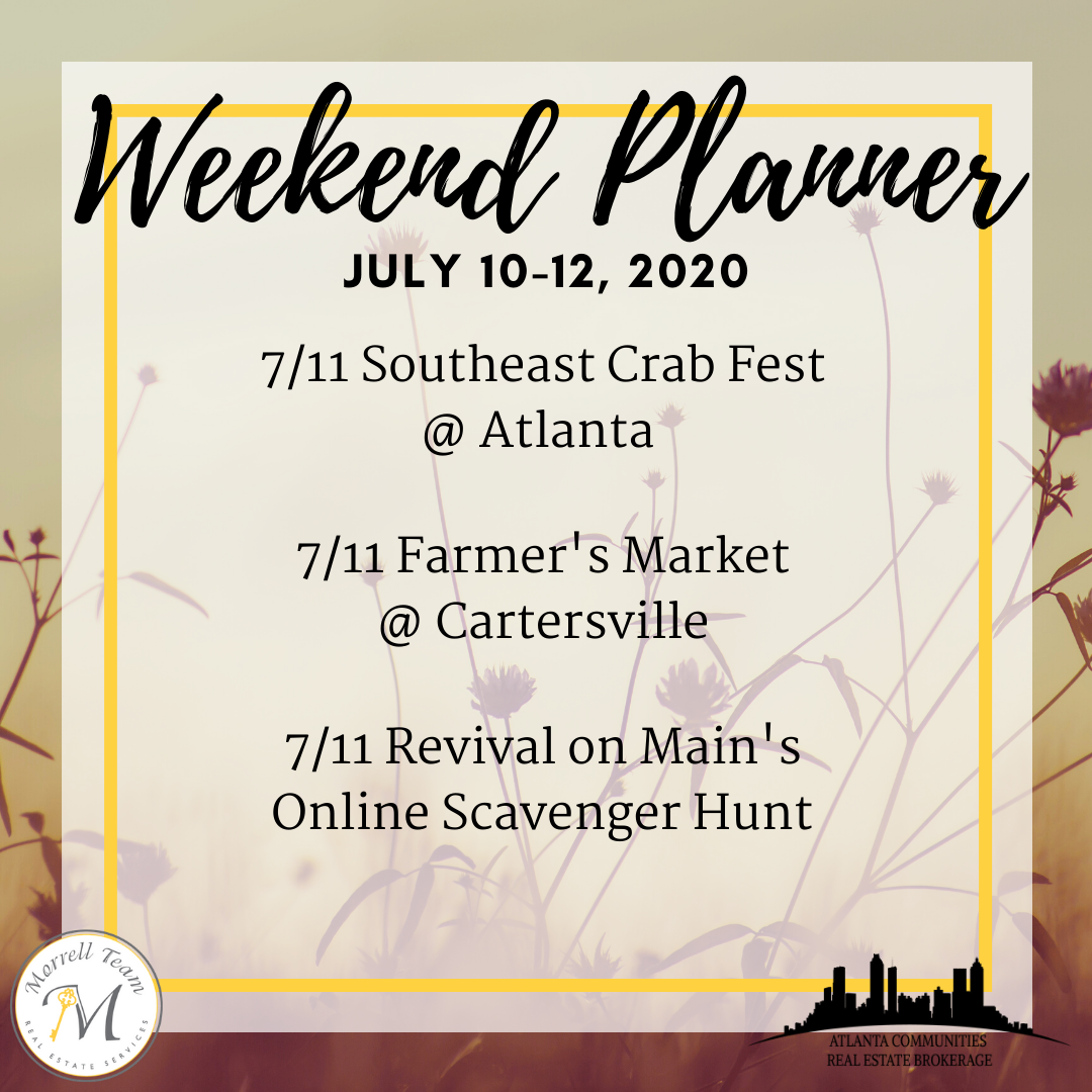 Weekend Planner July 8, 2020