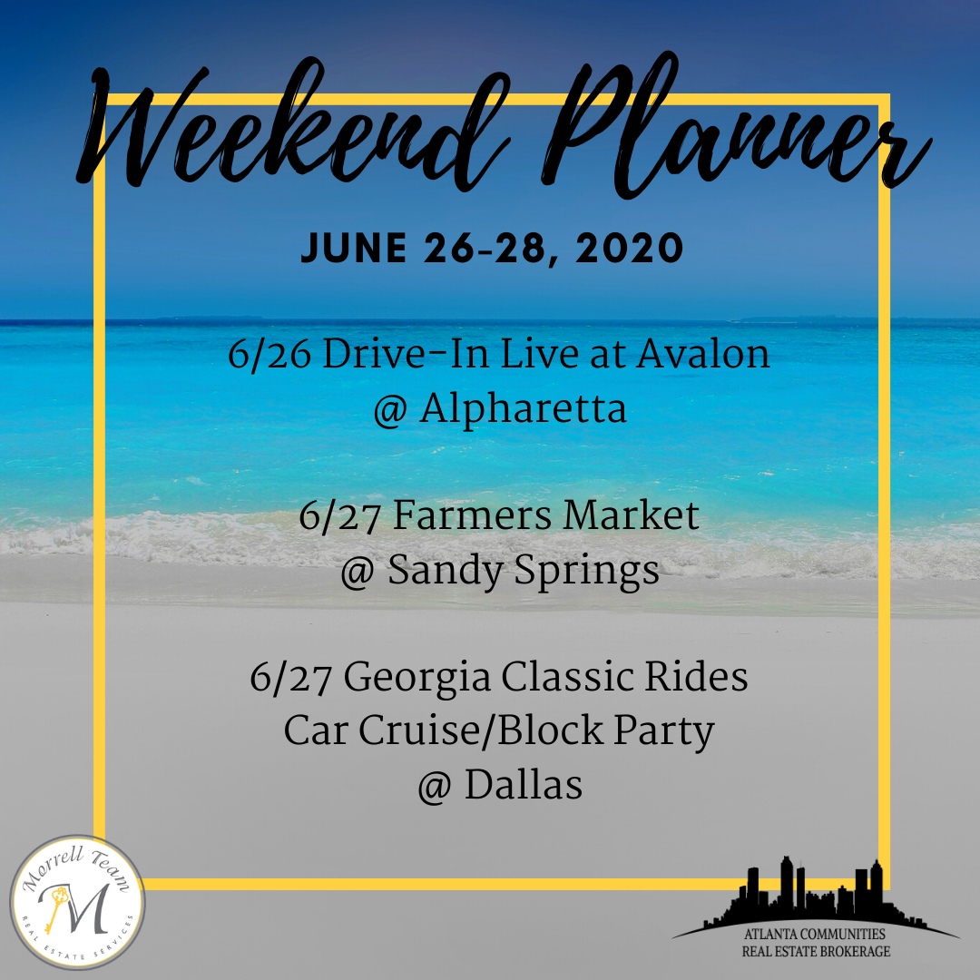 Weekend Planner June 24, 2020