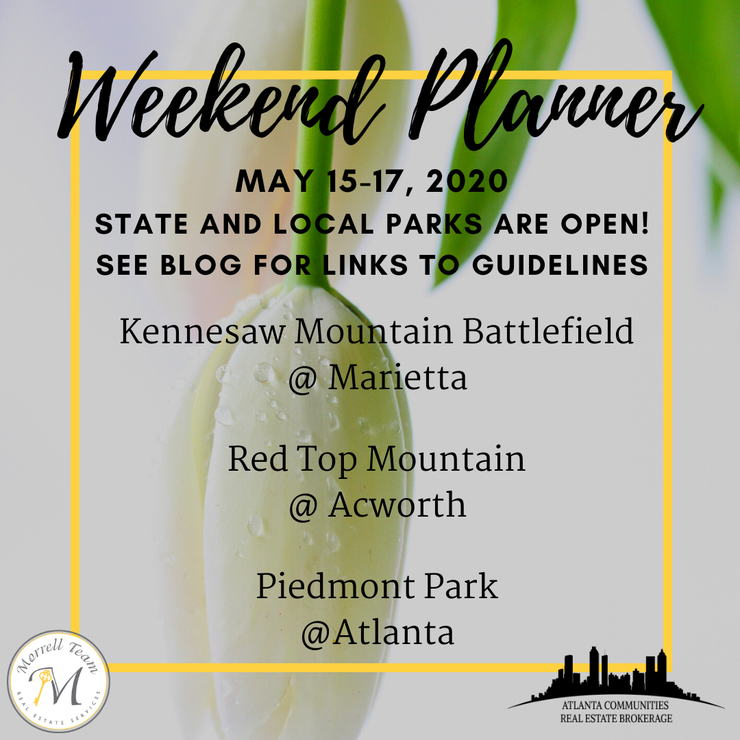 Weekend Planner May 13, 2020