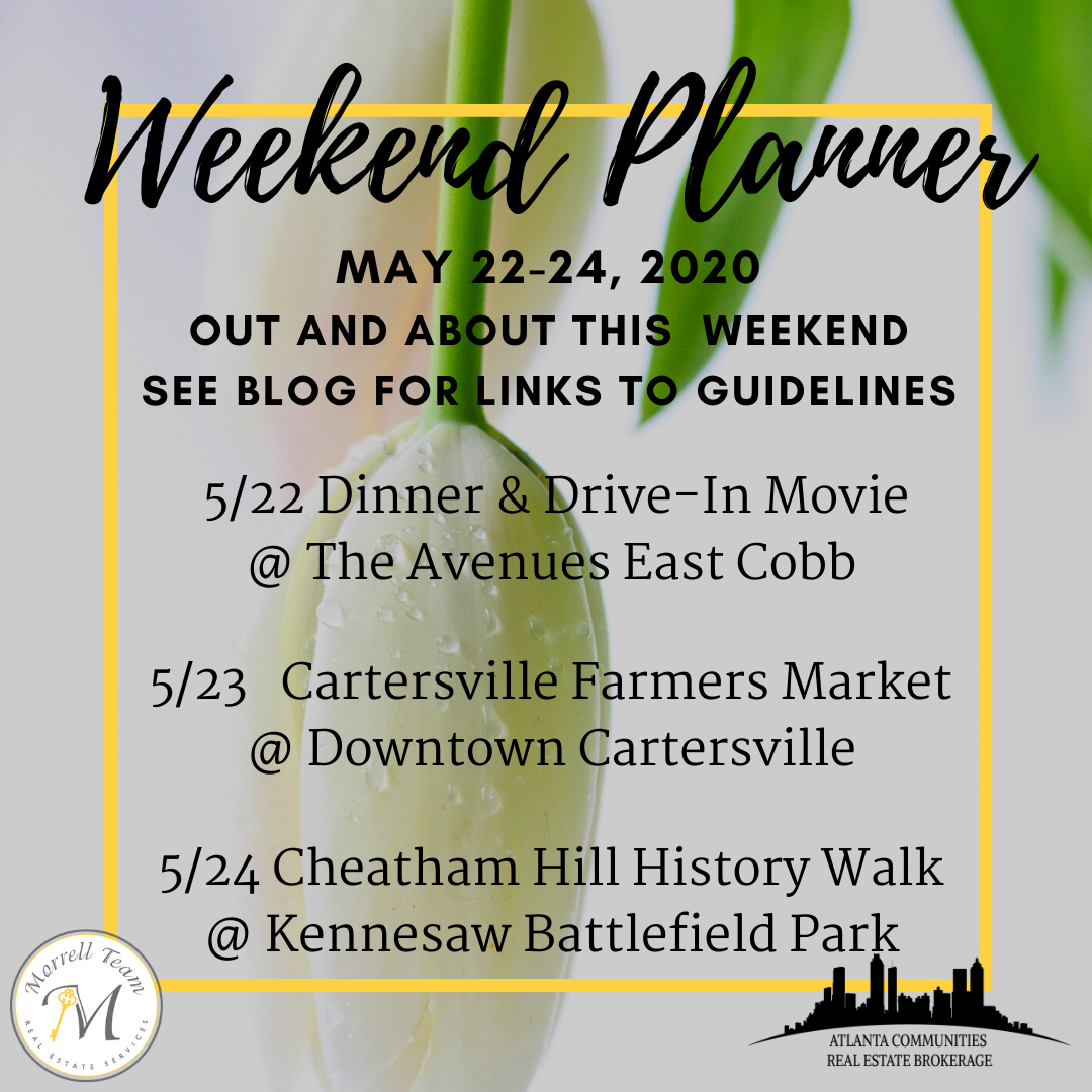 Weekend Planner May 20, 2020