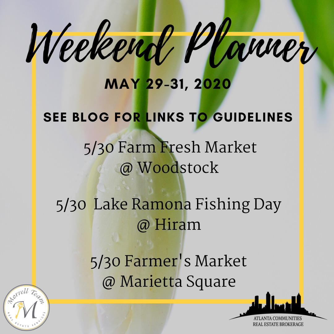 Weekend Planner May 27, 2020