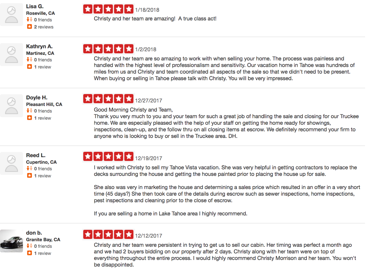 Christy Morrison Yelp Reviews