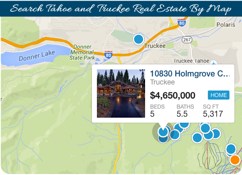 Search Tahoe and Truckee Real Estate By Map