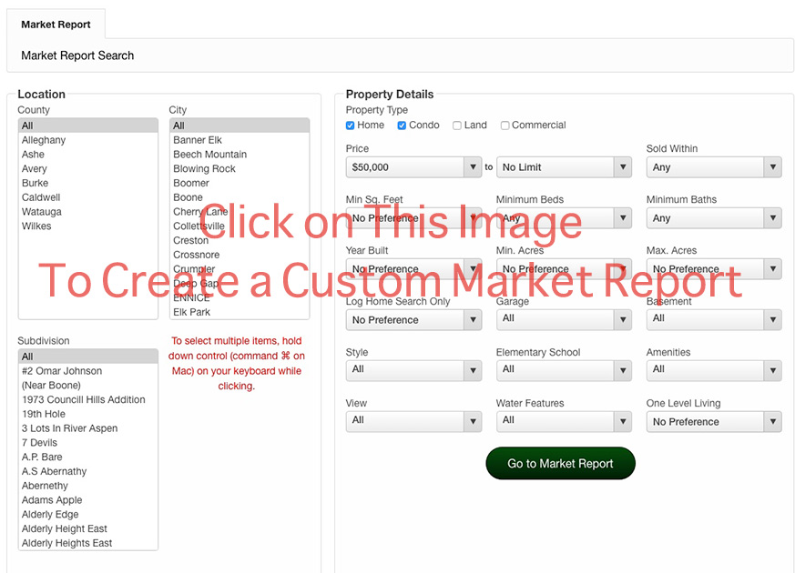 Create Custom Market Report