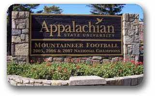 Appalachian University Boone North Carolina