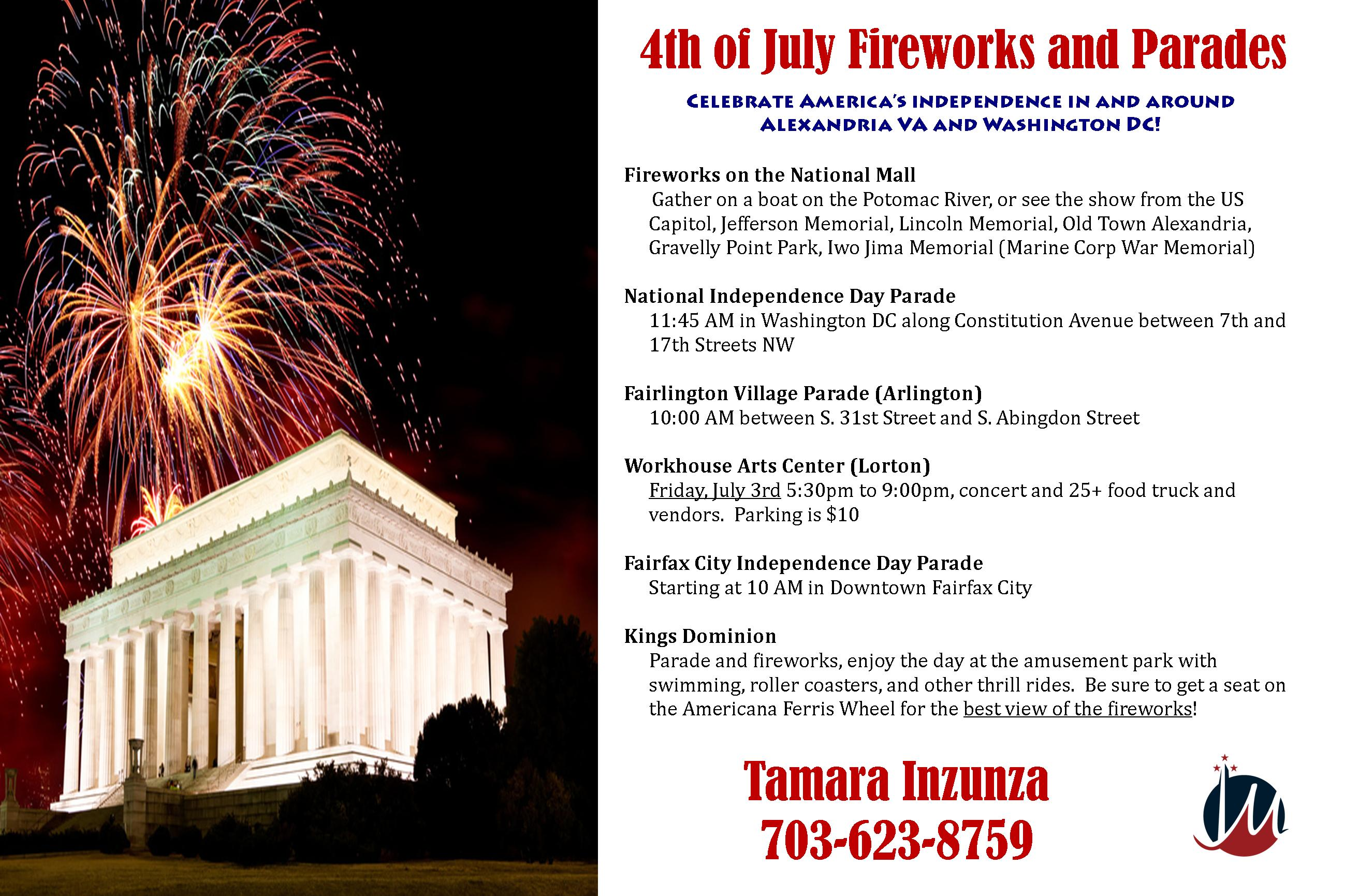 where to see 4th of july fireworks alexandria va