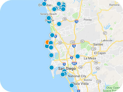 Southern Cal Real Estate Map Search