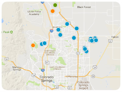 Colorado Springs Real Estate Colorado Springs Homes For Sale - Colorado springs on us map