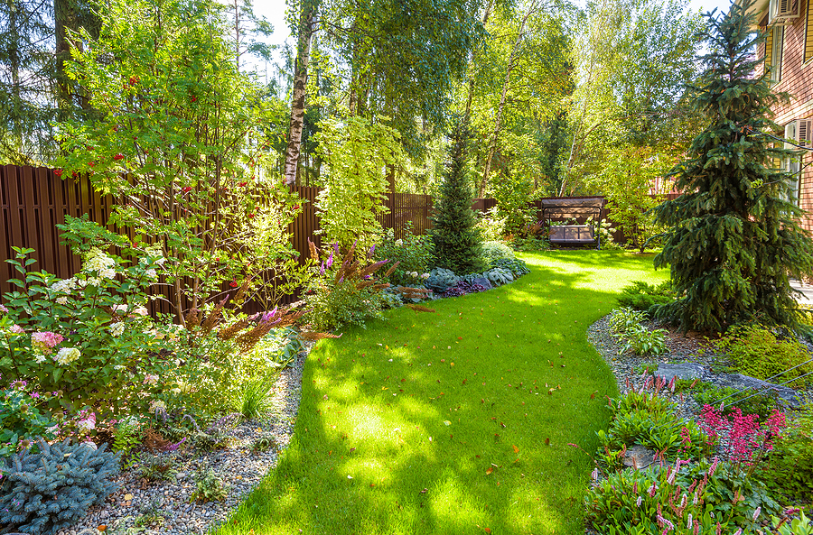 Reston home owners get landscaping in good shape.