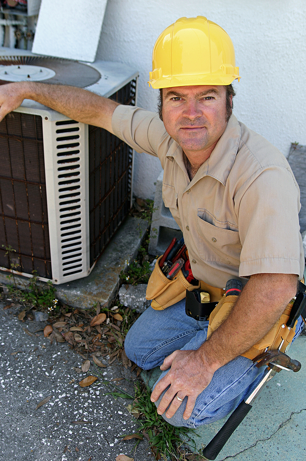 Reston property owners do air conditioner maintenance.