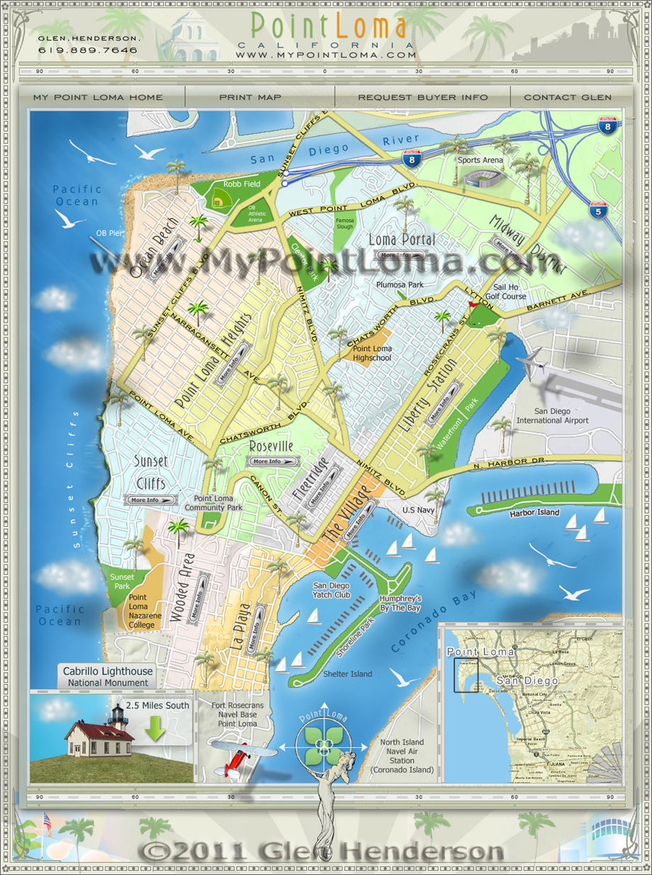 Point Loma Neighborhoods Map