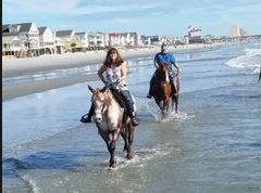 Riding horses in Myrtle Beach