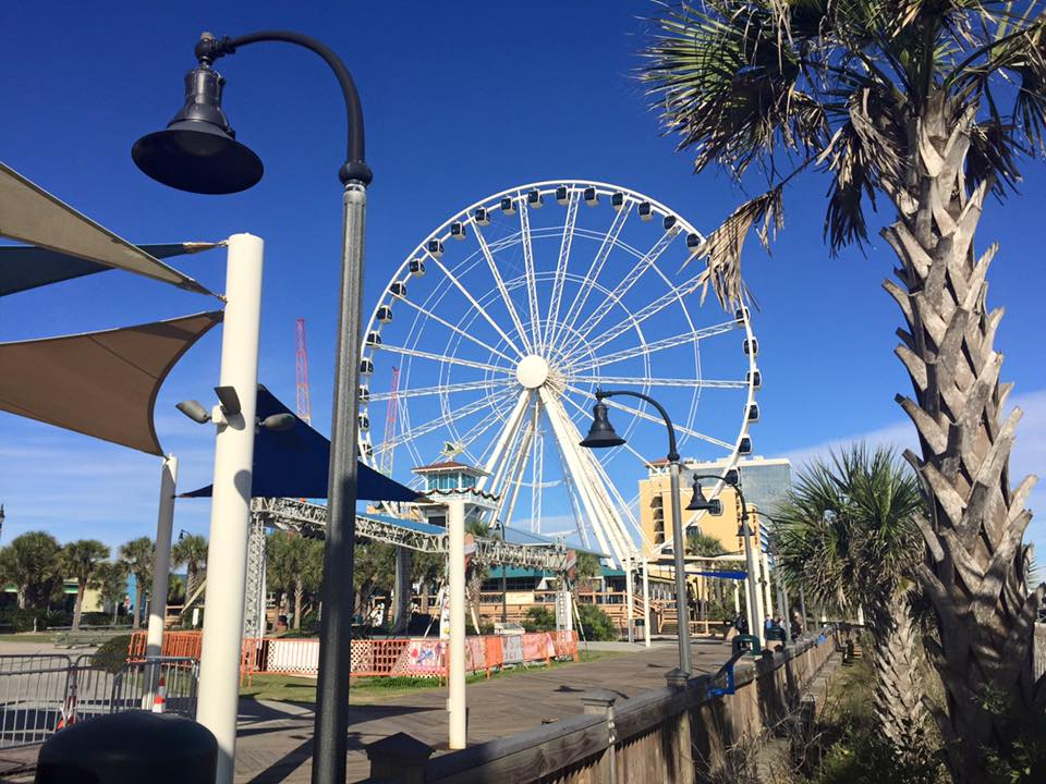 Skywheel on the boardwalk