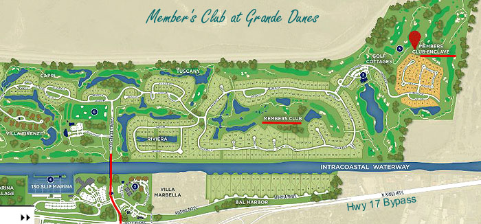 Map of Members Club Enclave