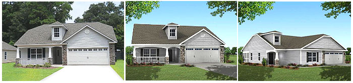 New Homes Renderings - Cottages at Pawleys Island