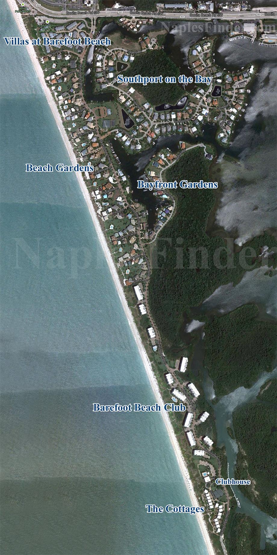Barefoot Beach Map