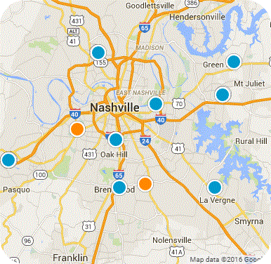 NASHVILLE REAL ESTATE MAP
