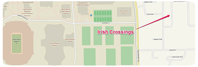 Irish Crossings Location