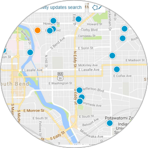 Interactive Mishawaka Map Search