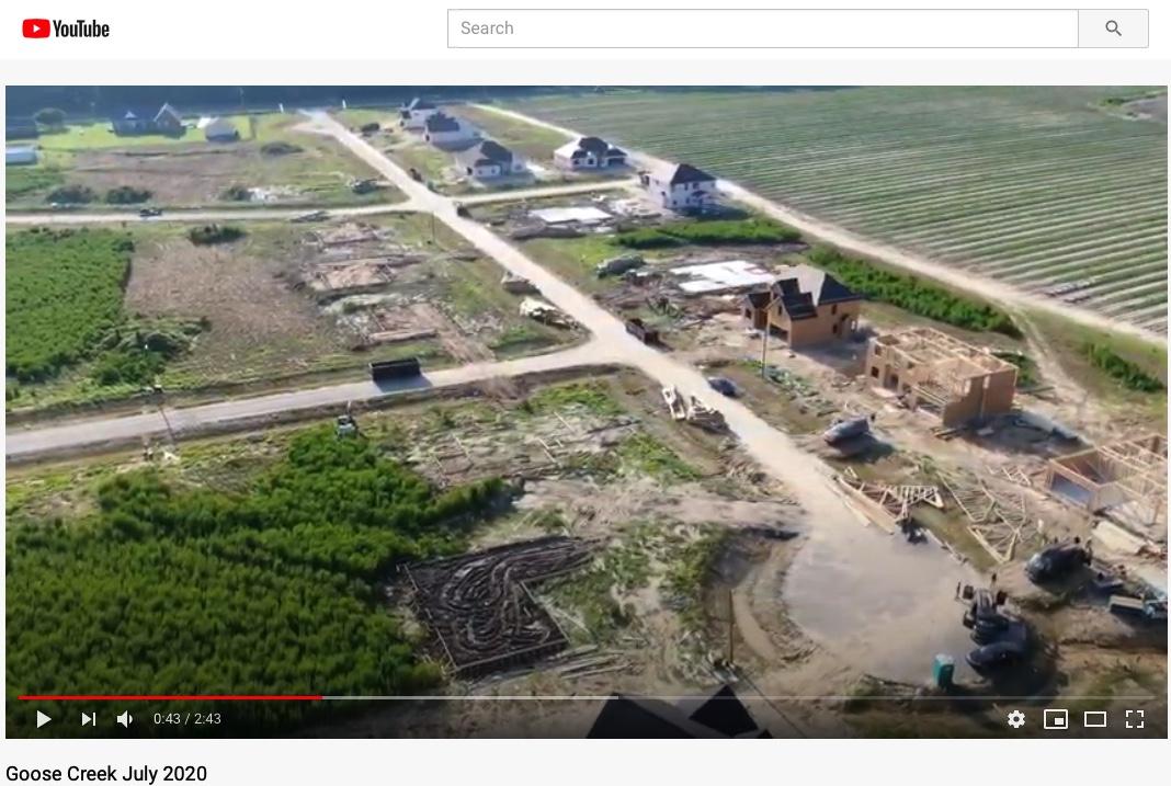 Goose Creek Goldsboro NC drone flyover