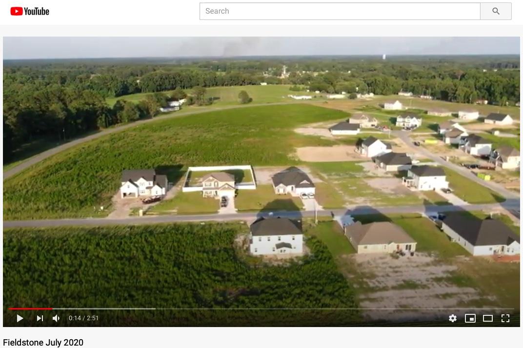 Fieldstone Goldsboro NC Drone Flyover