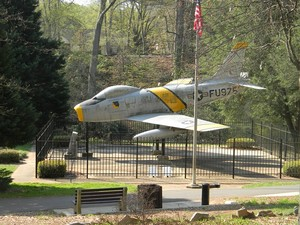 Rudolf Anderson's memorial in Reedy Falls Park - Downtown Greenville