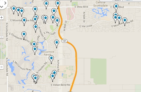 McCormick Ranch Real Estate for Sale Map Search