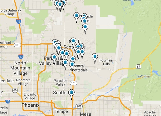 Scottsdale Real Estate for Sale Map Search