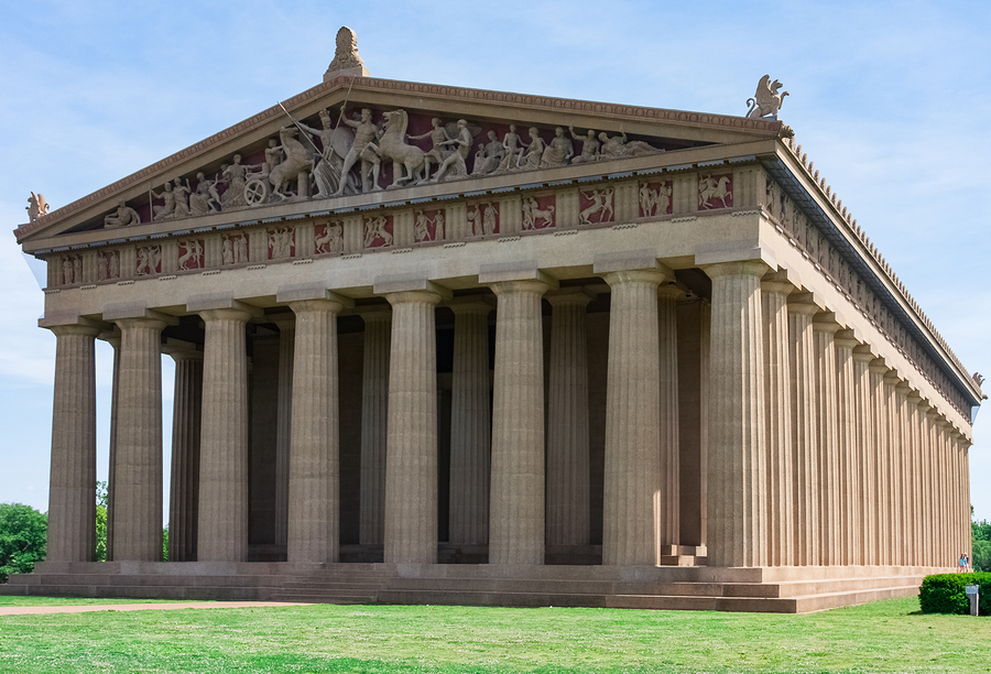 History buffs who live in Nashville visit the Parthenon.
