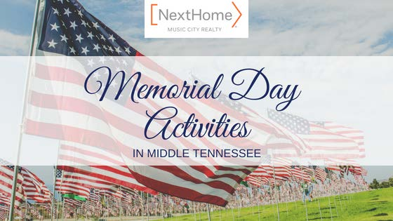 Memorial Activities in and Around Middle Tennessee - American Flag Background