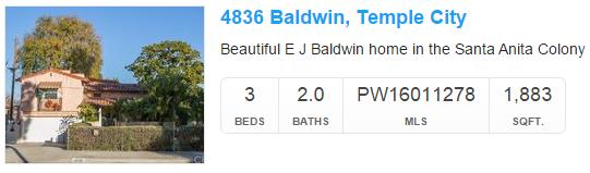 4836 Baldwin Temple City