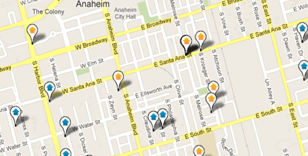 Anaheim Map Search