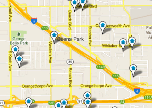 Buena Park Map Search