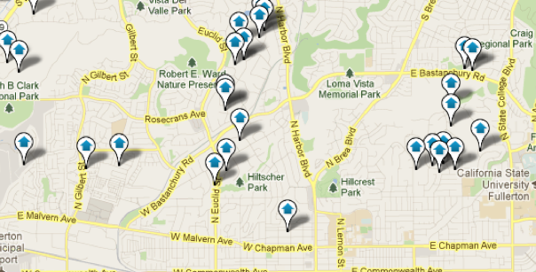 Fullerton Map Search