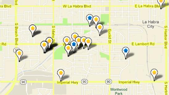La Habra Map Search