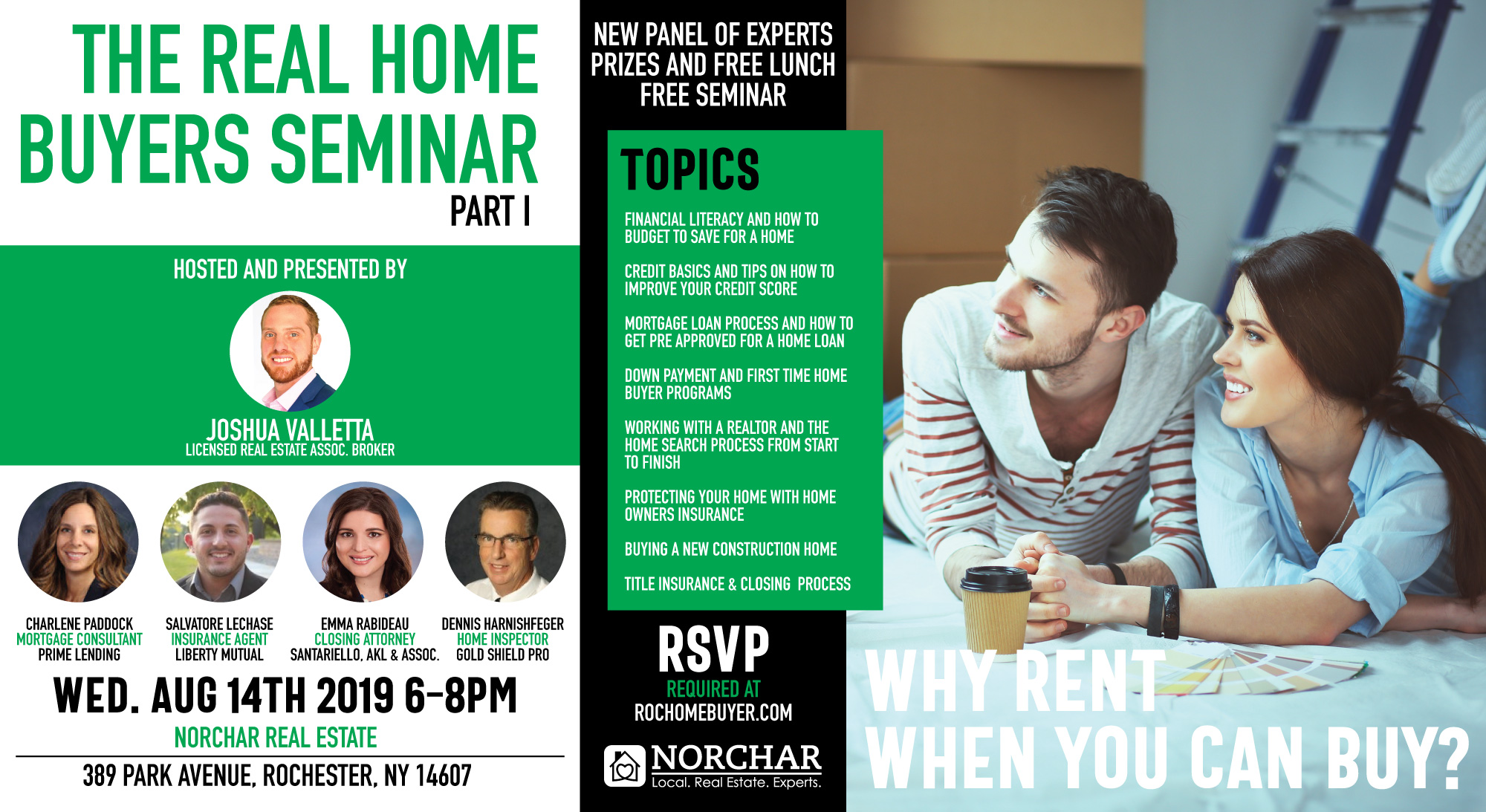 Rochester Home Buyers Seminar August 2019