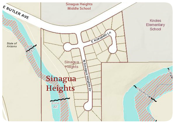 2016 Sinagua Heights Neighborhood Map