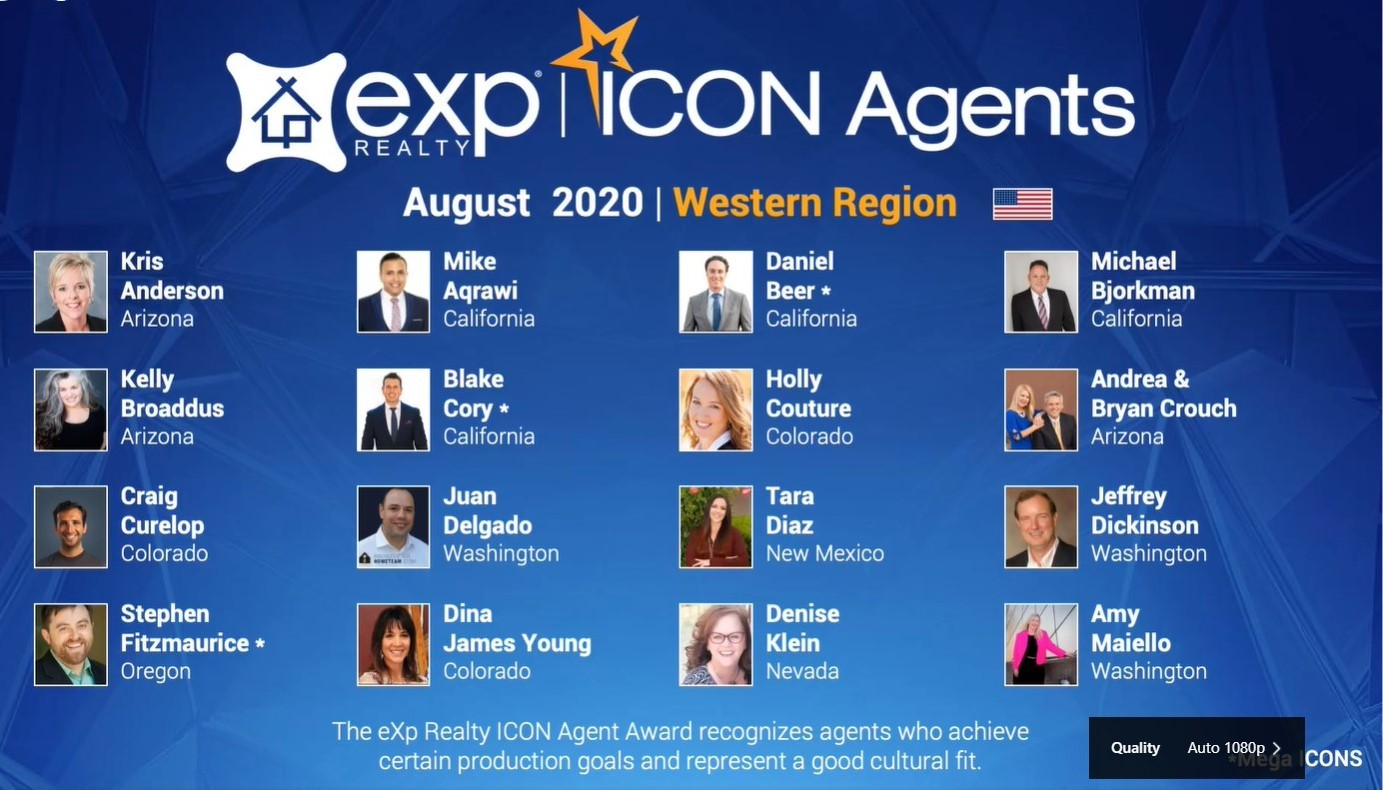 August 2020 eXp ICON Award