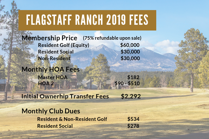 Flagstaff Ranch 2018 Fees