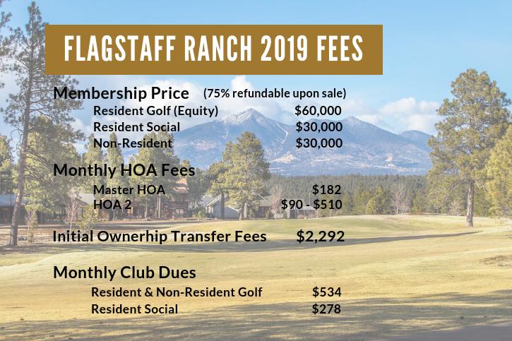 Flagstaff Ranch 2019 Fees