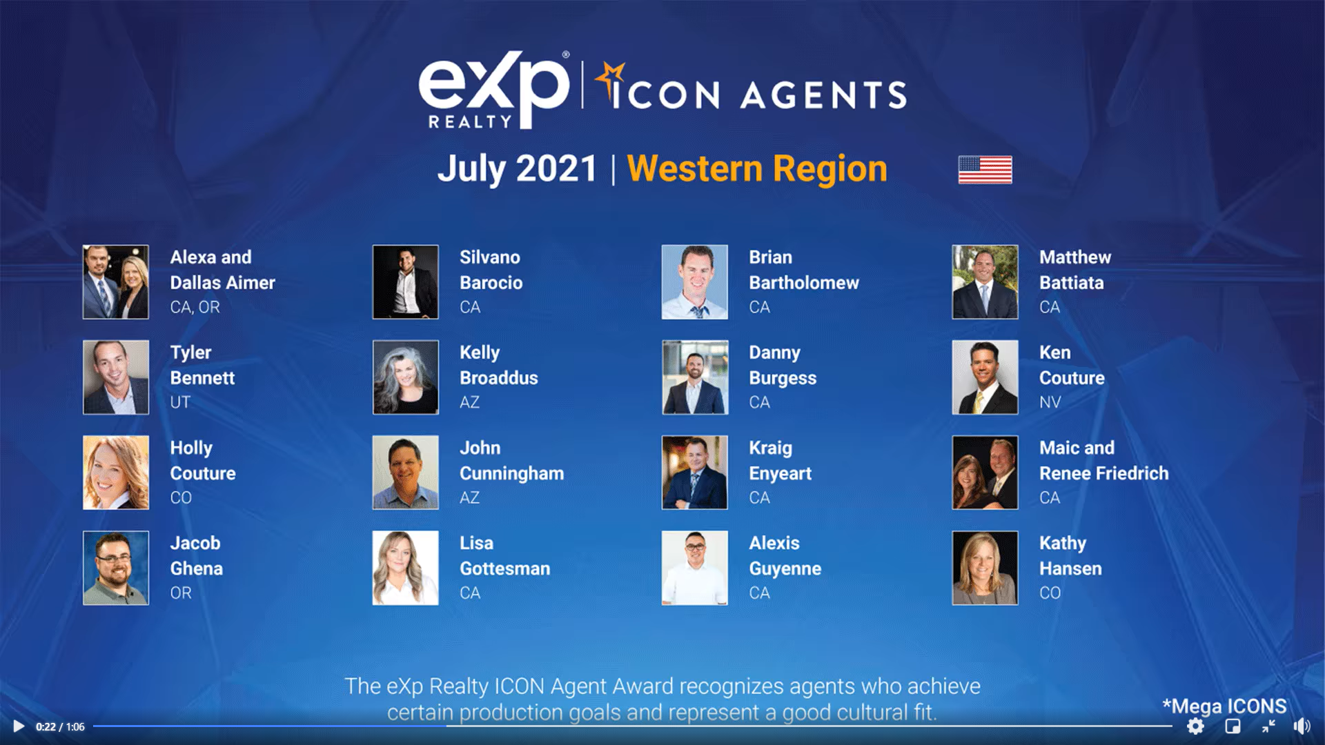 July 2021 eXp Icon Agent